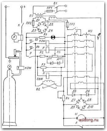 Схема полуавтомата ПРМ-4